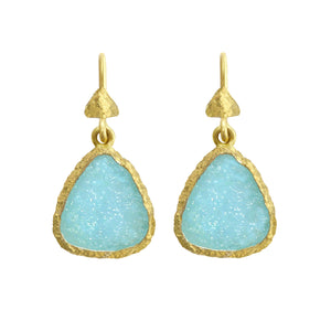 Hemimorphite Fresco Earrings by Laurie Kaiser - Talisman Collection Fine Jewelers