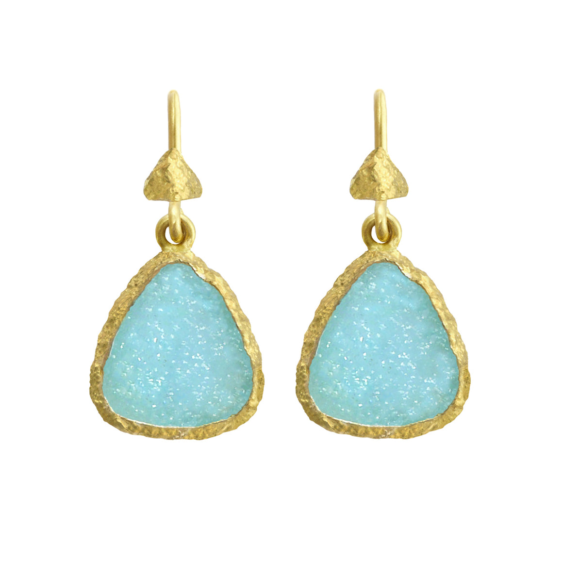 Hemimorphite Fresco Earrings by Laurie Kaiser