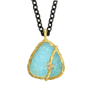 Hemimorphite Necklace by Laurie Kaiser