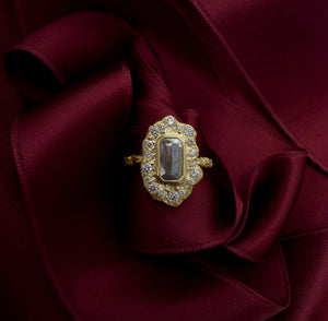 Diamond Fresco Ruffle Ring by Laurie Kaiser - Talisman Collection Fine Jewelers