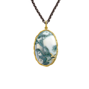 Moss Agate Necklace by Laurie Kaiser