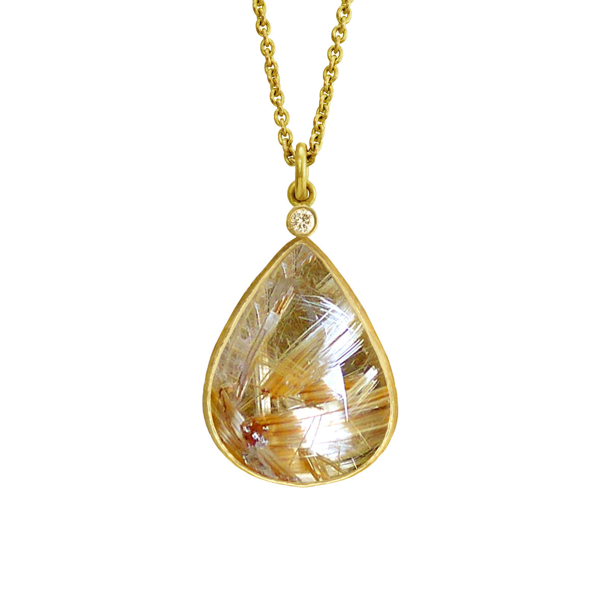 Rutilated Quartz Necklace by Laurie Kaiser