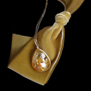 Rutilated Quartz Necklace by Laurie Kaiser - Talisman Collection Fine Jewelers