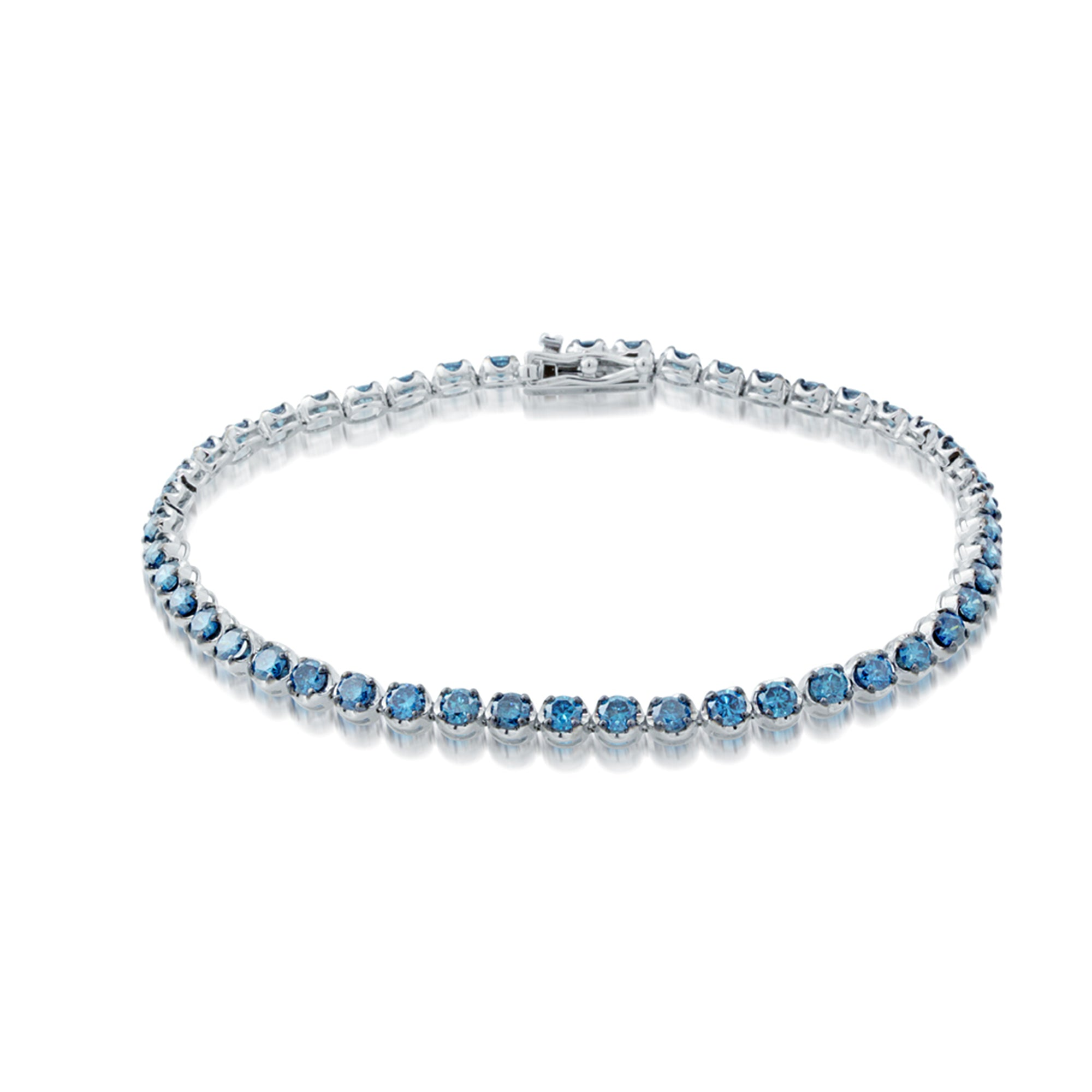 Blue Diamond Line Bracelet, 3.50 Total Carat Weight - Talisman Collection Fine Jewelers