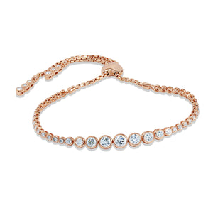 Diamond Bolo Bracelet in 14k Rose Gold, 2.00 Total Carat Weight - Talisman Collection Fine Jewelers
