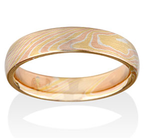 Birch Mokume Tri-Color Ring by Chris Ploof