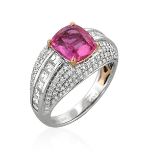 Pink Sapphire and Diamond Ring by Yael