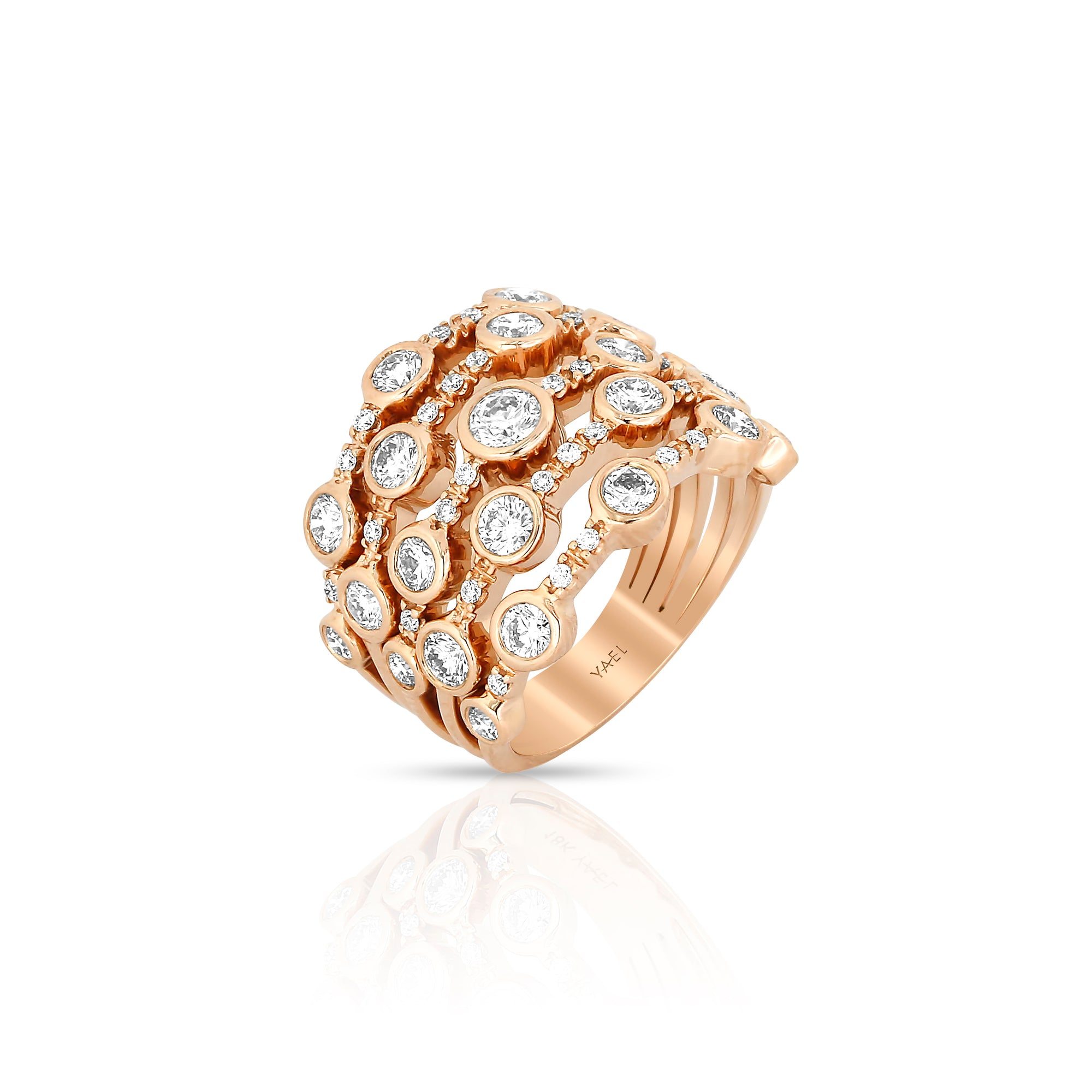 "Diamond ""Bubble"" Ring by Yael - Rose Gold - Talisman Collection Fine Jewelers"