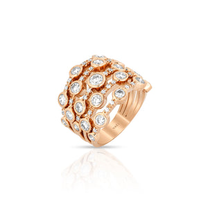 "Yael 18k Rose Gold & Diamond ""Bubble"" Ring"