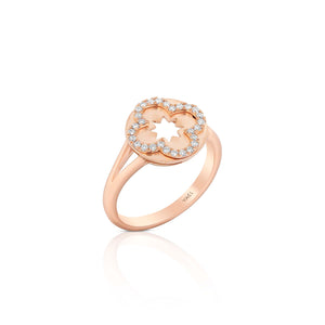 Yael 14k Rose Gold and Diamond Ring