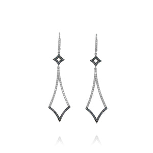 Yael 18k White Gold Color-Change Garnet and Diamond Earrings