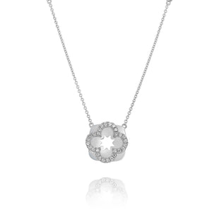 Diamond Flora Necklace by Yael - White Gold - Talisman Collection Fine Jewelers