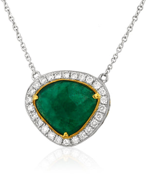 Emerald and Diamond Necklace by Yael - Talisman Collection Fine Jewelers
