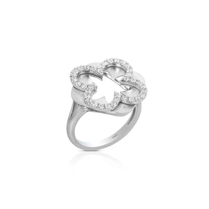 Yael 14k White Gold and Diamond Ring