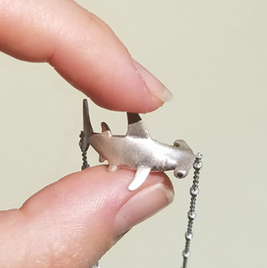 Baby Hammerhead Shark Necklace by Manya & Roumen - Talisman Collection Fine Jewelers