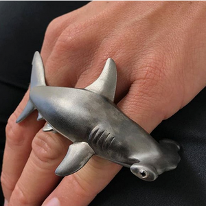 Hammerhead Shark Ring by Manya & Roumen - Talisman Collection Fine Jewelers