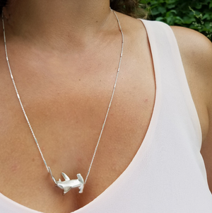 Mama Hammerhead Shark Necklace by Manya & Roumen - Talisman Collection Fine Jewelers