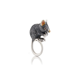 Peter the Mouse Ring by Manya & Roumen - Talisman Collection Fine Jewelers