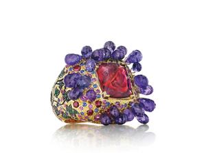 Red Tourmaline Mythology Collection Bacchus Ring by MadStone - Talisman Collection Fine Jewelers