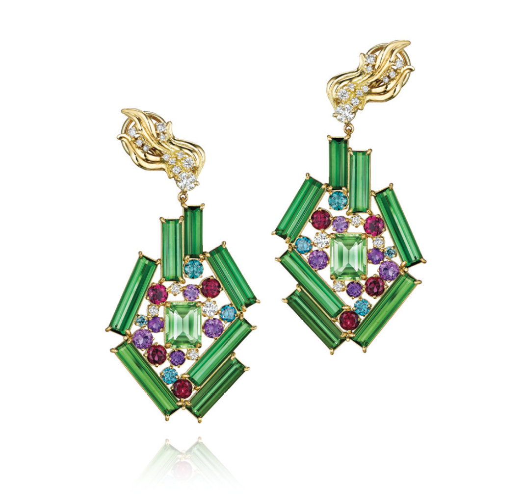 Green Tourmaline Mythology Collection Elysium Earrings by MadStone - Talisman Collection Fine Jewelers