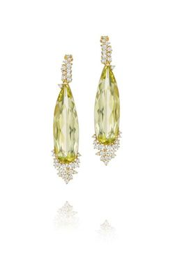 Melting Ice Lemon Citrine and Diamond Drop Earrings by MadStone - Talisman Collection Fine Jewelers