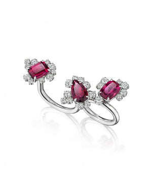 Rubelite Three Graces Convertible Ring by MadStone - Talisman Collection Fine Jewelers