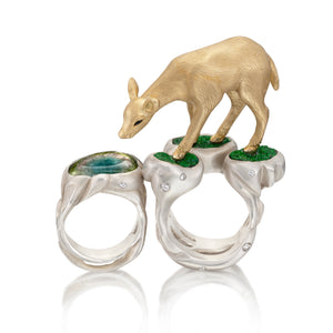 Deer in the Forest Ring by Manya & Roumen - Talisman Collection Fine Jewelers