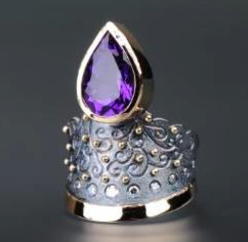 "Margisa ""Petersburg"" Amethyst and Diamond Ring"