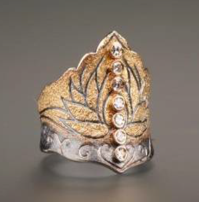 Lotus Diamond Ring by Margisa - Talisman Collection Fine Jewelers