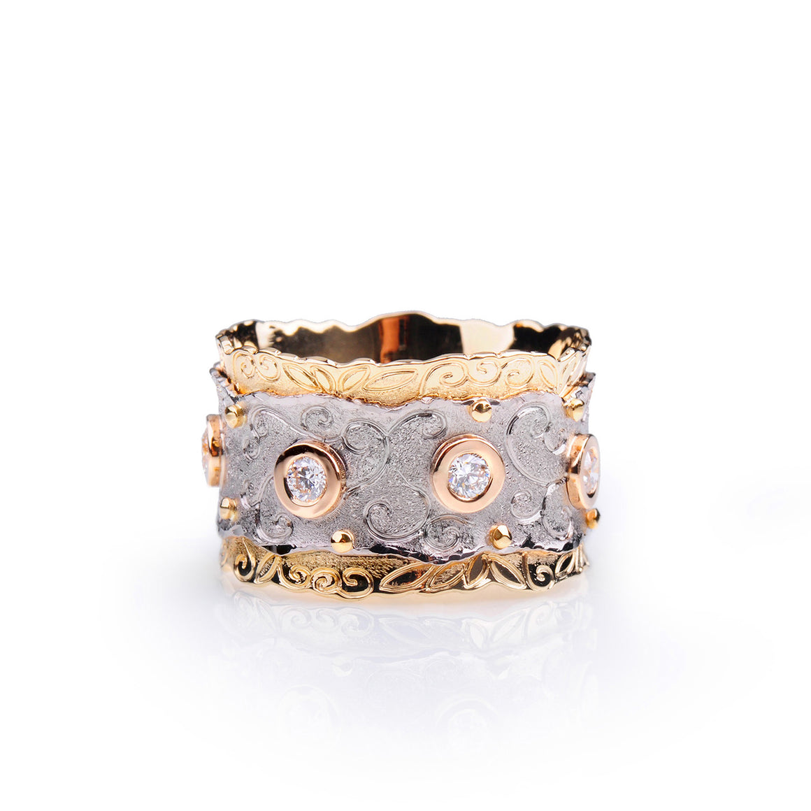 Meadow of Stones Diamond Ring by Margisa - Talisman Collection Fine Jewelers