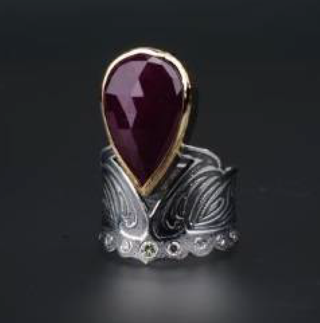 Paris Ruby and Diamond Ring by Margisa - Talisman Collection Fine Jewelers
