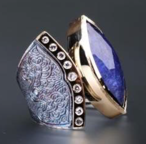 Marrakesh Tanzanite and Diamond Ring by Margisa - Talisman Collection Fine Jewelers