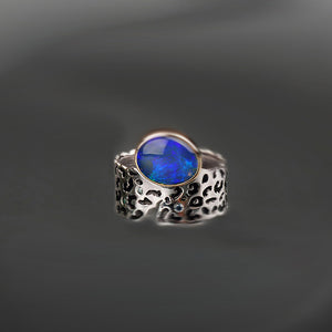 Wildness Opal and Diamond Ring by Margisa - Talisman Collection Fine Jewelers