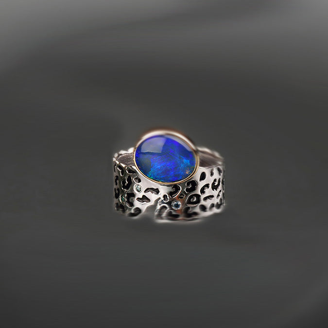 "Margisa Opal and Diamond ""Wildness"" Ring"