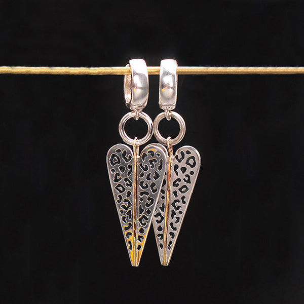 Wildness Elongated Heart Earrings by Margisa - Talisman Collection Fine Jewelers