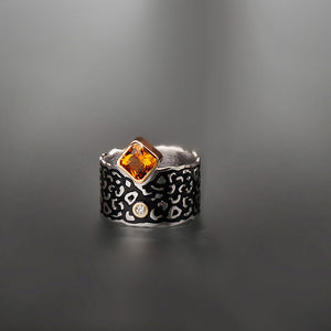 Wildness Citrine and Diamond Ring by Margisa - Talisman Collection Fine Jewelers