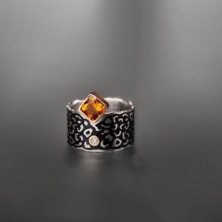 "Margisa Citrine and Diamond ""Wildness"" Ring"