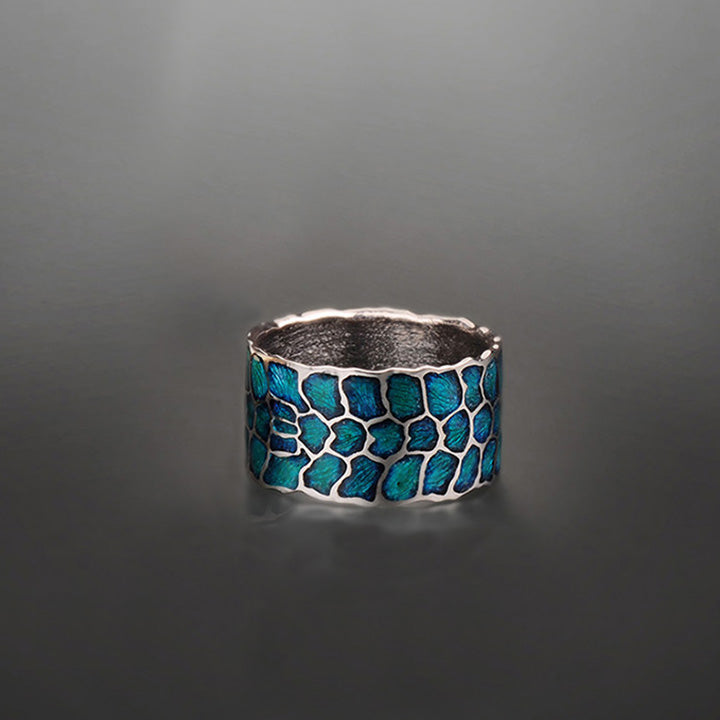 "Margisa Sterling Silver Blue ""Wildness"" Band"