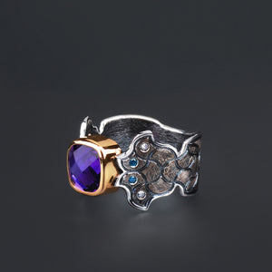 "Margisa ""Barcelona"" Amethyst and Diamond Ring"