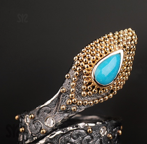 Snake Turquoise Ring by Margisa - Talisman Collection Fine Jewelers