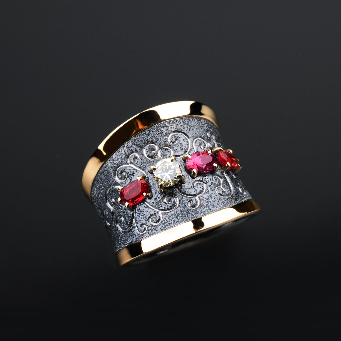 Rhapsody Sapphire, Tourmaline and Diamond Ring by Margisa - Talisman Collection Fine Jewelers