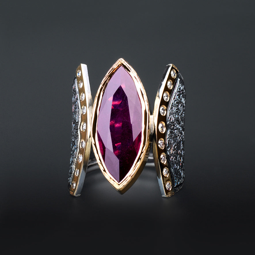 Marrakesh Ruby and Diamond Ring by Margisa - Talisman Collection Fine Jewelers