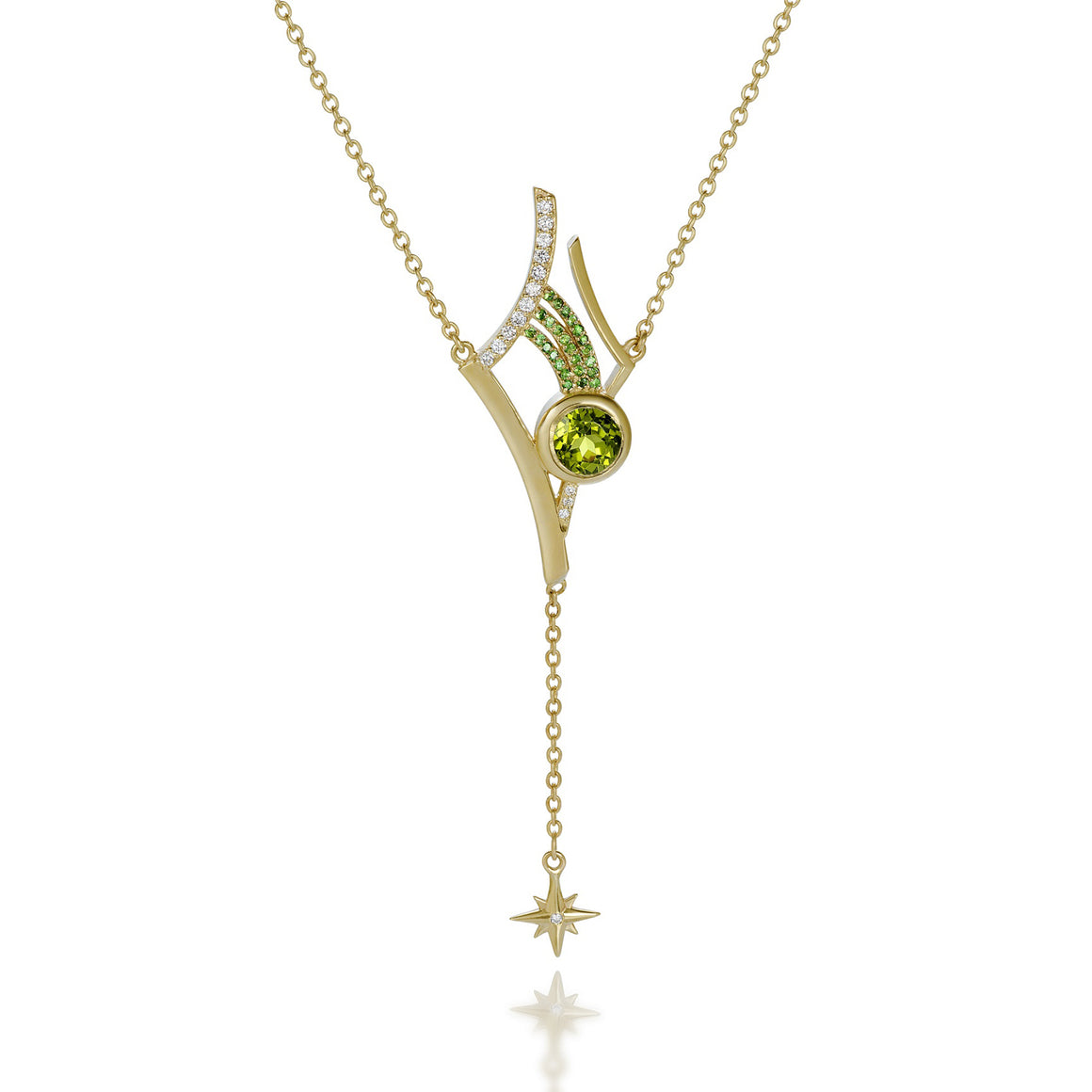 Antares Peridot Necklace by Martha Seely - Talisman Collection Fine Jewelers