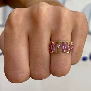Pink Sapphire Meridian Ring by Gemma Couture