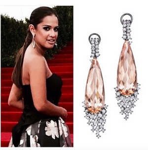 Melting Ice Morganite and Diamond Drop Earrings by MadStone - Talisman Collection Fine Jewelers