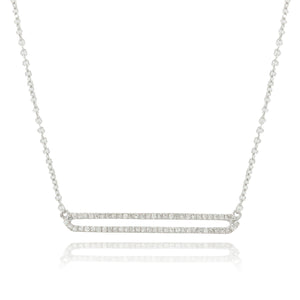 Diamond Open Bar Necklace by Doves - Talisman Collection Fine Jewelers