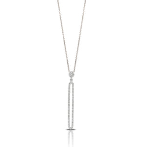 Diamond Elongated Open Drop Necklace by Doves - Talisman Collection Fine Jewelers
