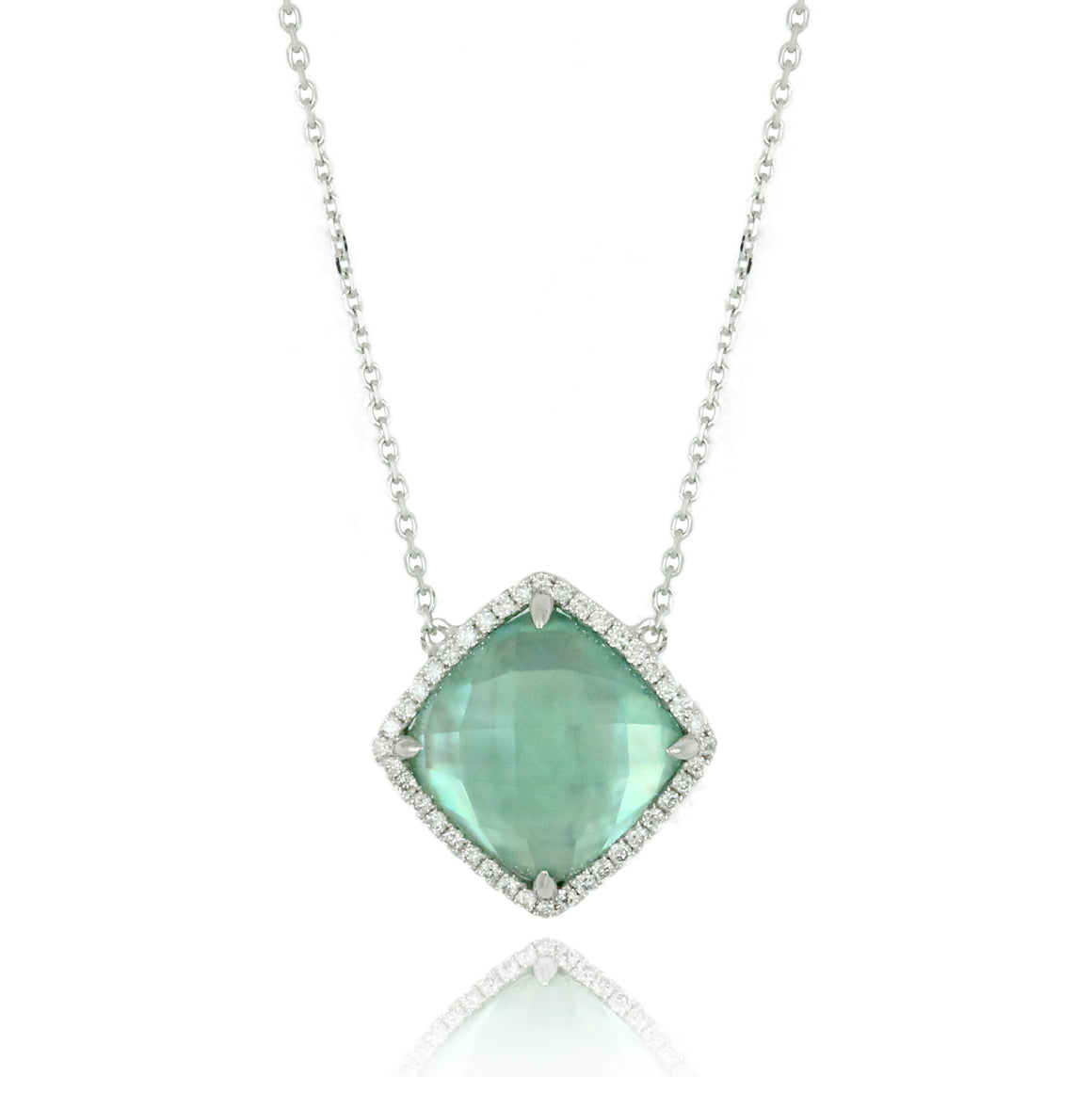 Cypress Green Amethyst and Diamond Necklace by Doves - Talisman Collection Fine Jewelers