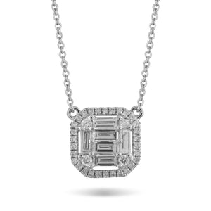 Mondrian Diamond Mosaic Necklace by Doves - Talisman Collection Fine Jewelers