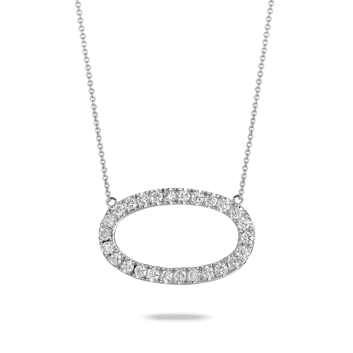 Diamond Open Oval Necklace by Doves - Talisman Collection Fine Jewelers